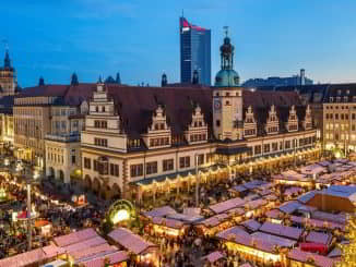 Leipzig Christmas Market in Saxony