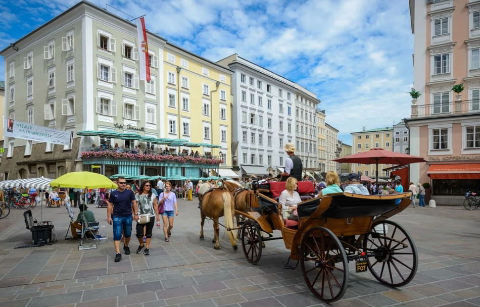 Most famous places in Salzburg Austria (The city of Mozart)